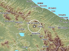 La mappa del terremoto tra Marche e Umbria del 9 luglio 2014