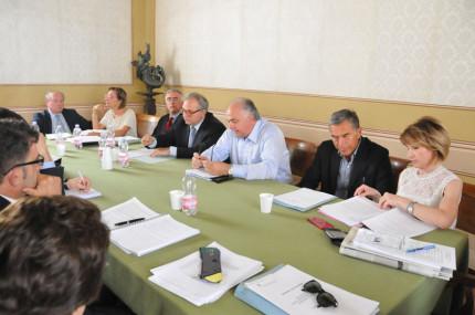 L'incontro tra la giunta regionale e quella comunale di Urbino