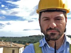 Il sindaco di Cartoceto Enrico Rossi