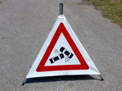 cartello per incidente stradale