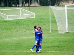 Daniele Amadei festeggia il gol del pareggio