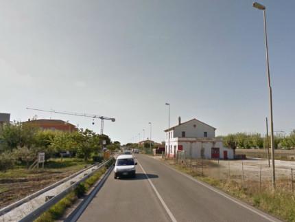 La statale Adriatica 16 a Ponte Sasso