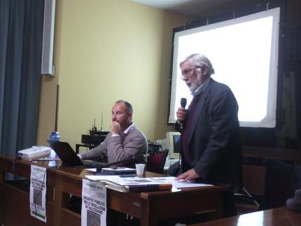 Giuliano Mancini e Adriano Mei all'incontro del Comitato Valcesano Unita