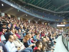 Tribuna dei tifosi della Vuelle Pesaro all'Adriatic Arena
