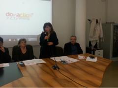 Loretta Bravi alla presentazione del libro Donaction