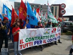 Manifestazione metalmeccanici a Senigallia