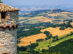 Panorama dell'entroterra della provincia di Pesaro Urbino