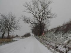 Neve sulle strade dell'entroterra fermano