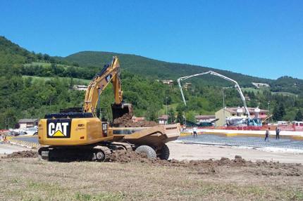 La ricostruzione dopo il terremoto a Pieve Torina (MC)