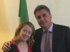 Giorgia Meloni e Antonio Baldelli