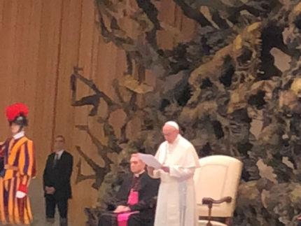 Papa Francesco: Udienza Generale di oggi 7 marzo 2018