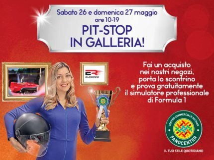 Pit-stop al Centro Commerciale Auchan Fanocenter con il simulatore di F1