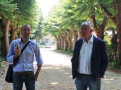 Matteo Ricci e Enzo Belloni al Parcheggio del San Benedetto