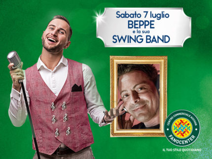 Beppe e Swing Band al Centro Commerciale Auchan Fanocenter