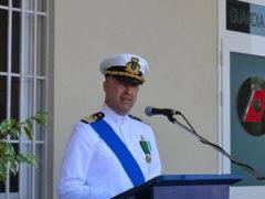 Il Comandante uscente della Capitaneria di Porto - Guardia Costiera di Pesaro Girgenti