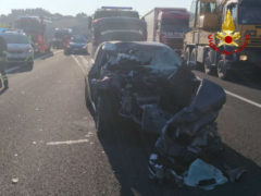 Incidente stradale in autostrada
