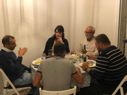 Matteo Ricci a cena in casa Zucca