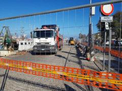 Lavori al porto di Pesaro