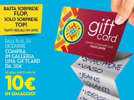 Gift Card, dono perfetto per Natale al FanoCenter
