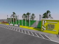 Rendering per bagni pubblici a Pesaro