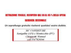MC Coperture - Detrazioni fiscali, garanzia decennale