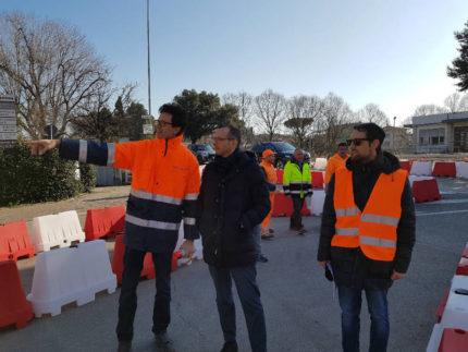 Apertura a Pesaro della rotonda in largo Tre Martiri