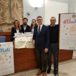 Matteo Ricci alla presentazione del baby kit di Farmacie Comunali