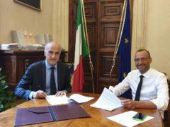 Il prefetto di Pesaro Lapolla con il sindaco Ricci