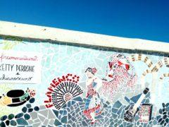 Mosaico a Marotta raffigurante una ballerina di flamenco