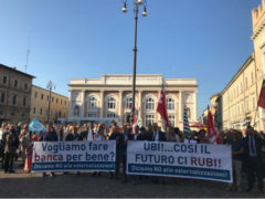 Manifestazione dipendenti Ubi