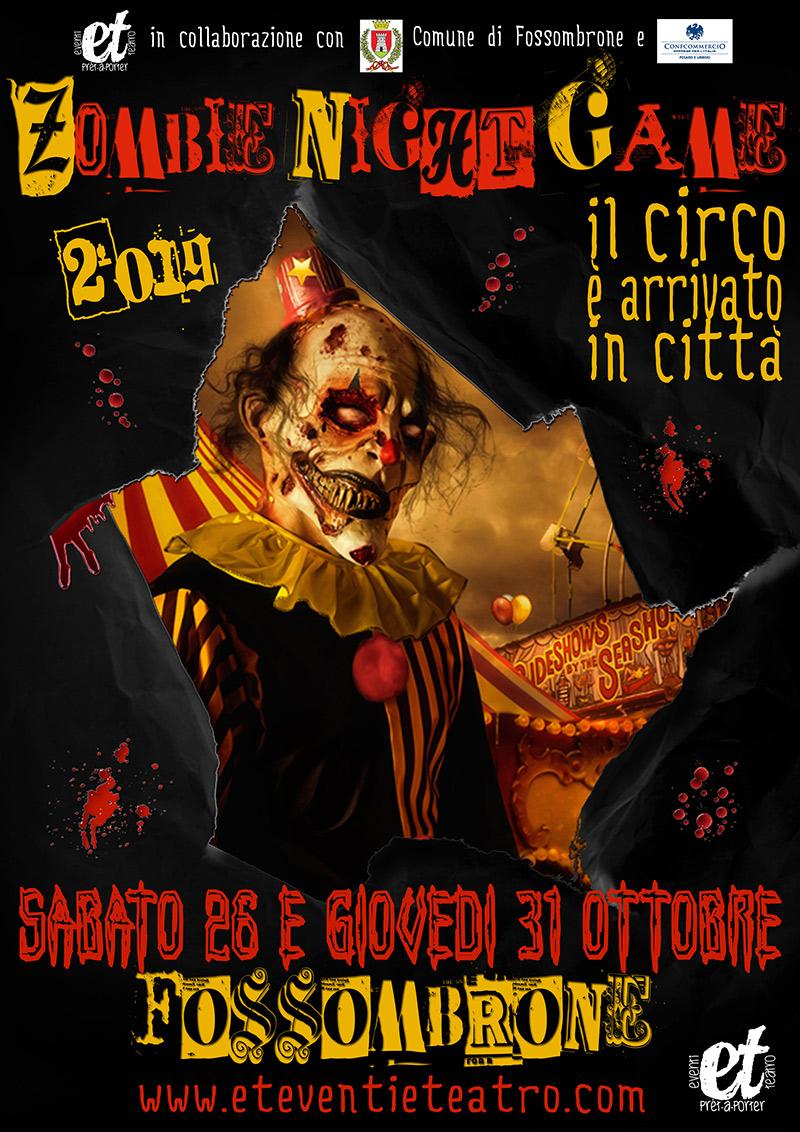 Zombie Night Game 2019 a Fossombrone - locandina