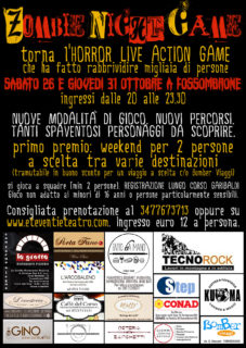 Zombie Night Game 2019 a Fossombrone - locandina