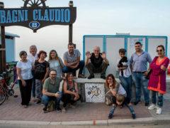 La Giraffa e il Mosaico - Installazione a Marotta per la Primavera Fotografica di Ostra