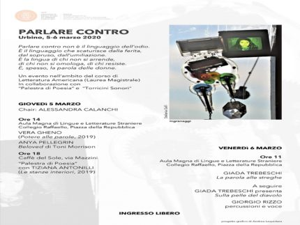 """Convegno """"Parlare contro"""" in programma a Urbino"""