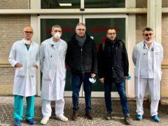 Matteo Ricci e Luca Ceriscioli in visita all'ospedale San Salvatore di Pesaro