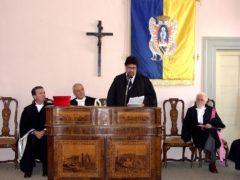 Conferimento della laurea ad honorem a Luis Sepulveda da parte dell'Università di Urbino