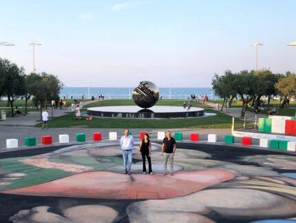 Street art in piazzale della Libertà a Pesaro