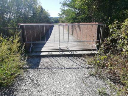 Chiusura del ponte ciclopedonale a Vallefoglia