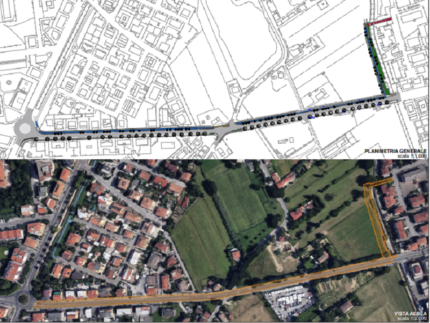 Progetto per il nuovo tratto di bicipolitana a Pesaro