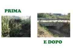 Il fosso Rio di Marsigliano, prima e dopo i lavori