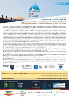 Climing for climate insieme alle univerostà