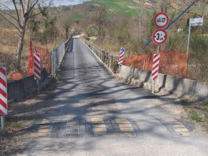 Lavori del ponte sulla SP 119