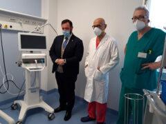 Mirco Carloni in visita all'Ospedale San Salvatore