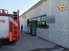 Incendio in uno studio a Fano