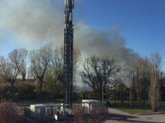 Incendio a Cesano