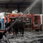 Incendio in uno stabilimento di Fano