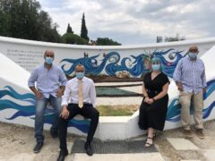Murale realizzato al Parco Miralfiore di Pesaro