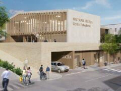 Rendering del centro polivalente previsto a Macerata Feltria