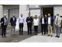 Il Presidente Acquaroli in visita alla nuova sede della SO.DI.CO