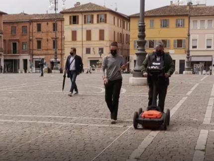 Georadar utilizzato in piazza XX settembre a Fano